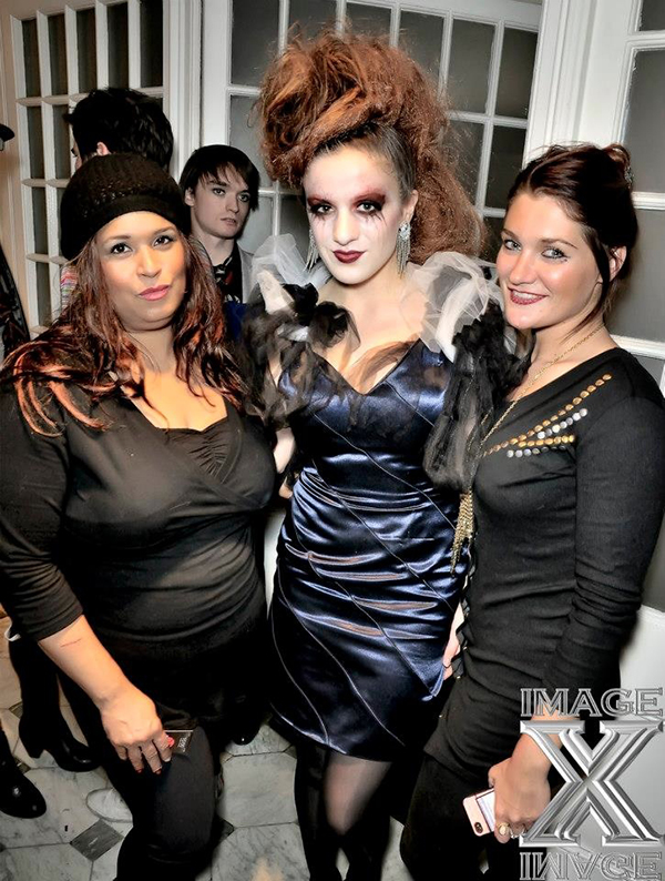 Halloween Catwalk Show Makeup Artist Kristy with Anna-Marie. Photography Serguei Cherkassov