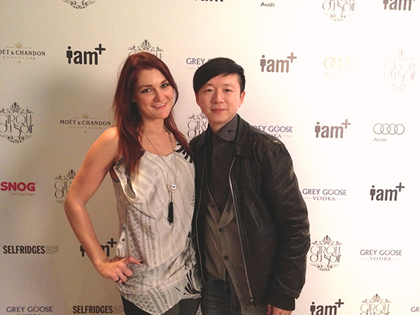 Designer Haizhen Wang & Anna-Marie at Will I AM party